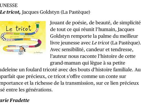Le tricot de Jacques Goldstyn, meilleur livre jeunesse de l'année!