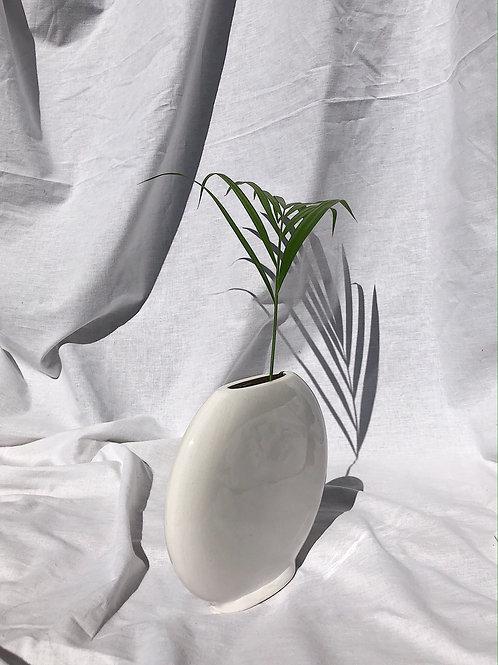 crackled white vase