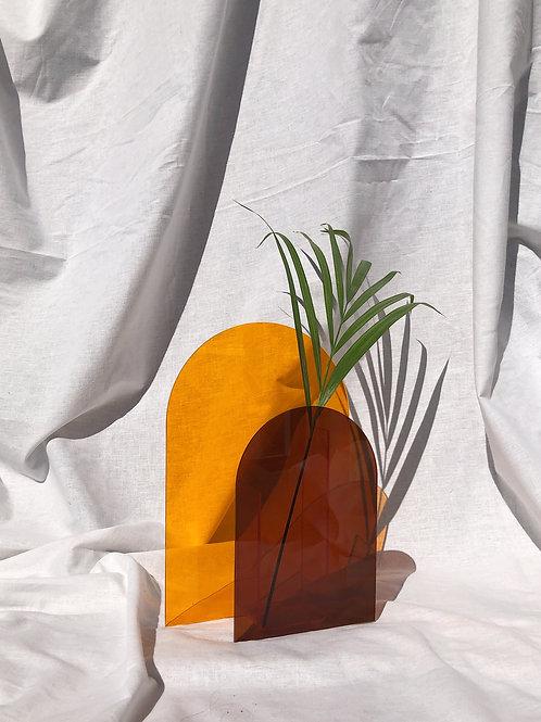 orange plexi vase