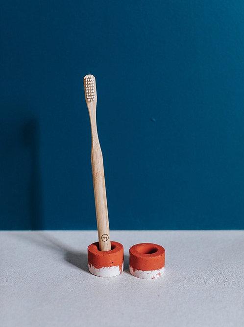 ZURI toothbrush holder terracotta