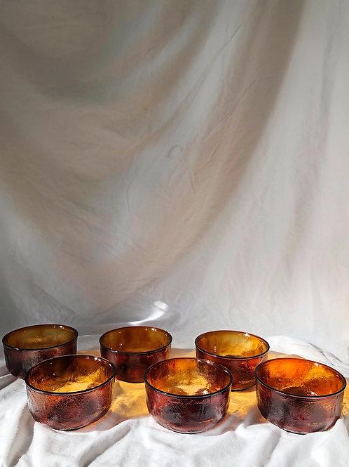 glass bowl - set of 6