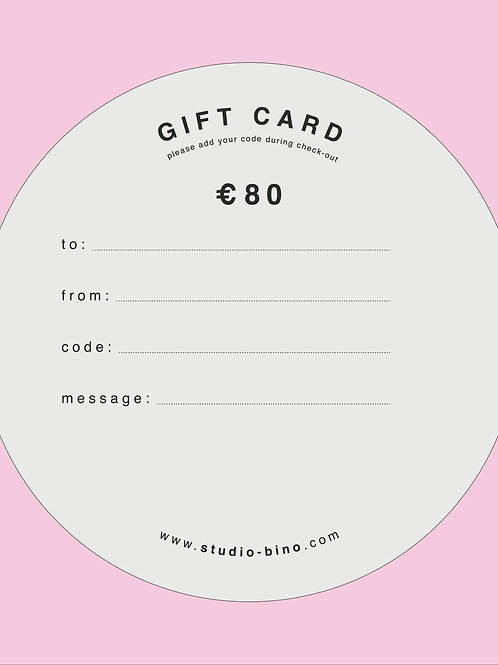 giftcard € 80