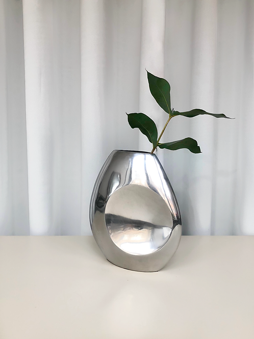 vintage chrome vase