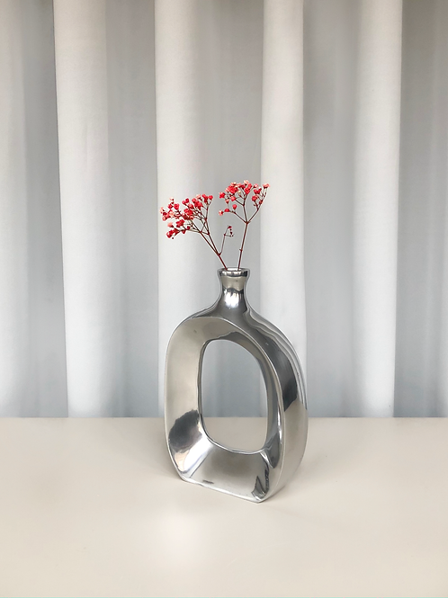heavy chrome vase