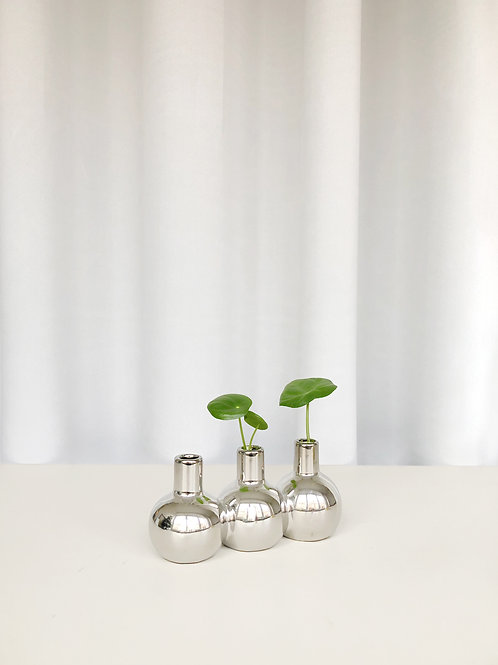 small chrome vase