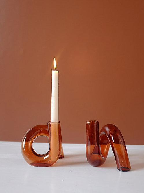 Glass knot vase