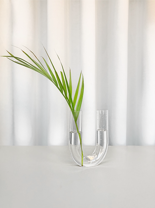 arched glass vase