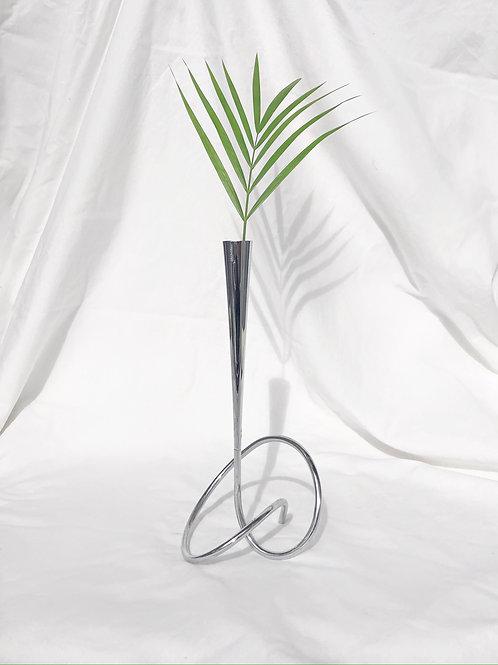 chrome swirl vase