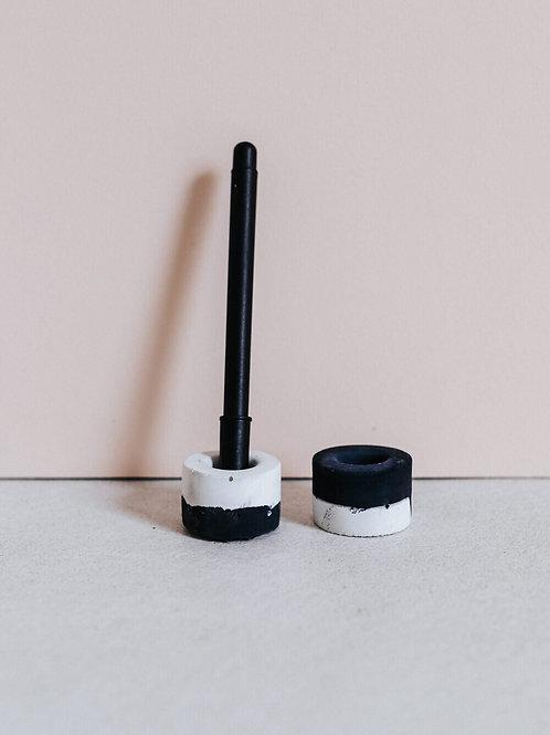 ZURI toothbrush holder black
