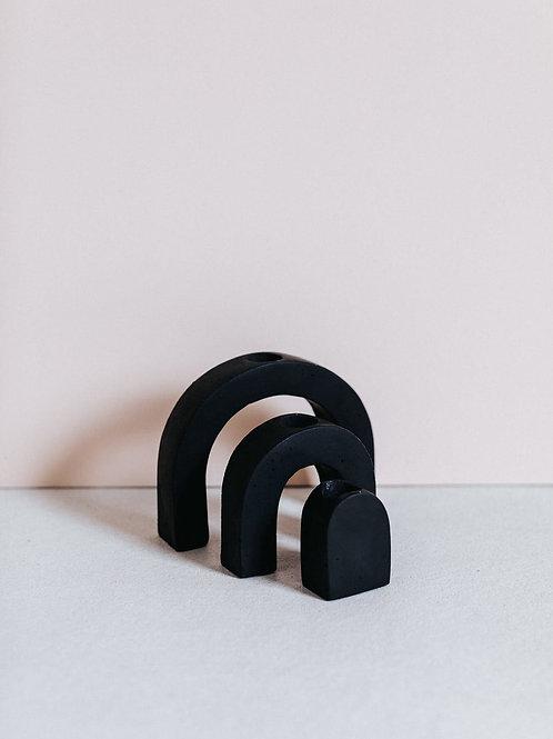 ZURI candleholder black