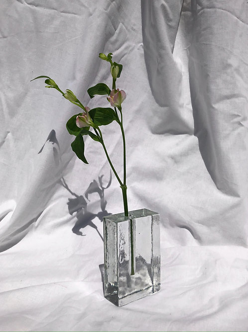 heavy glass vase