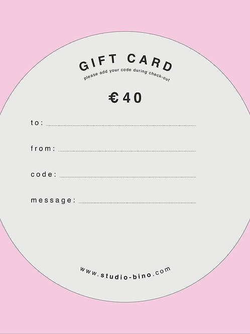 giftcard € 40