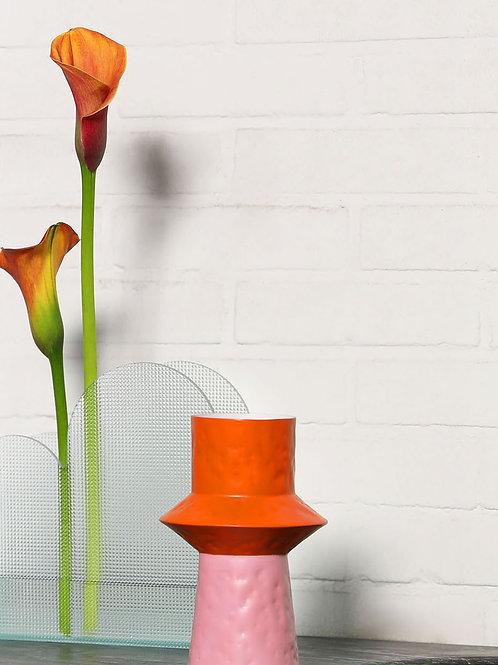 &Klevering vase origami pink