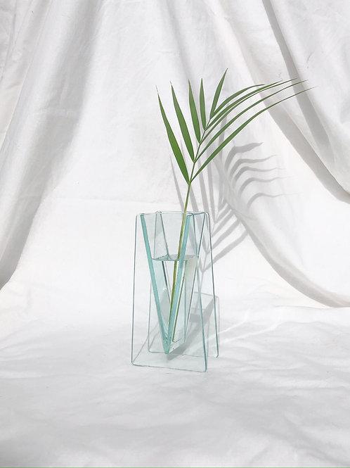 architectural glass vase