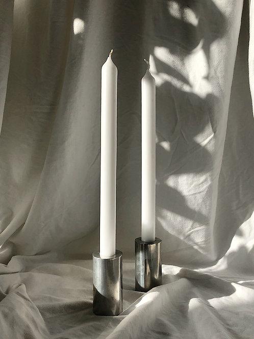 chrome candle holder