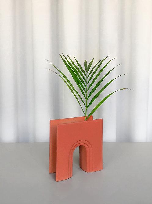 heavy sculptural vase