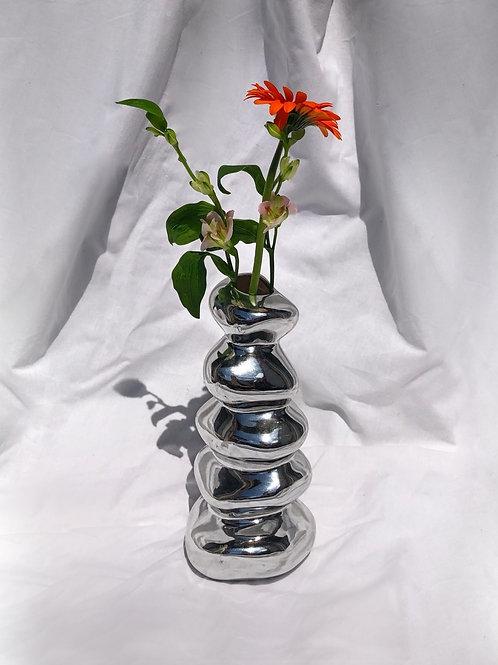 stacked vase chrome