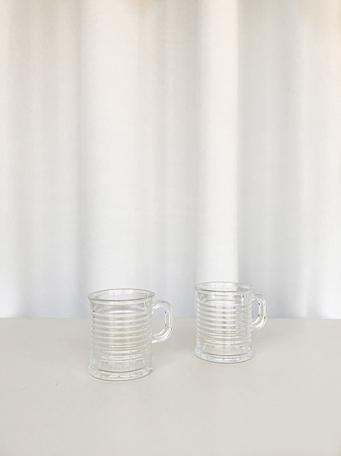 set of 2 glass cups