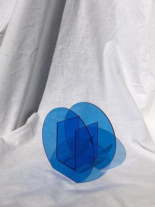 blue plexi vase
