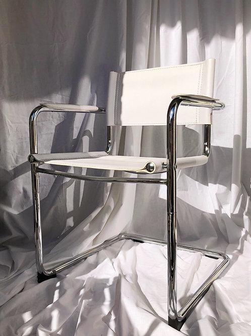 white chrome chair
