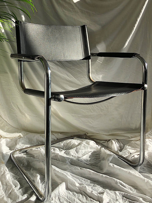 black chrome chair