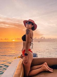 Sunset boat tours Isla Mujeres