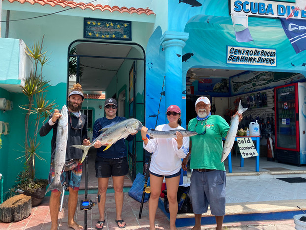 Nice Offshore Fishing Trip off Isla Mujeres