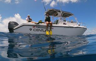 Sharky Boat at Whale Shark