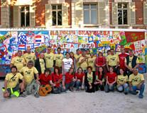 artistas, organizadora e apoiadores