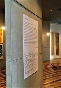 Entrada da exposição Rudis Materìa