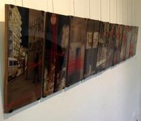 """Vista da Exposição """"Entre_linhas"""", de Juliana Hofmann"""