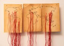 Juliana Hoffmann. Notas da Pandemia II - Mapa-mundi , 2020
