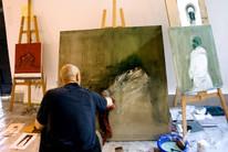 Artistas trabalhando