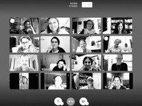 O Grupo em reunião virtual