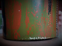Garrafas pintadas por Juliana Hoffmann