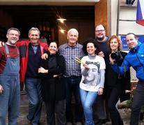 Artistas e família Sibav