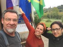 Dante Velone, Janaína Corá e Juliana Hoffmann