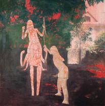 Obra de Juliana Hoffmann, com interferência de Dirce Körbes