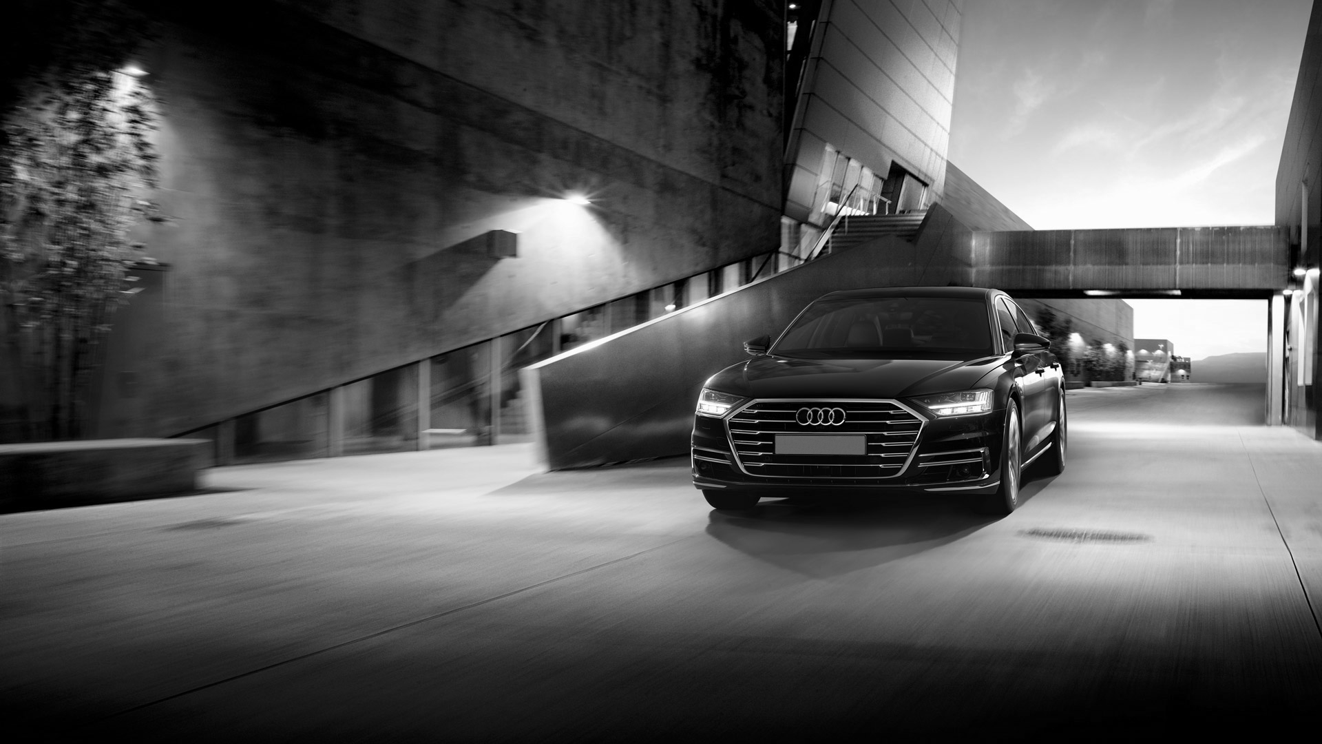 Drive Arrive Black Audi A8L