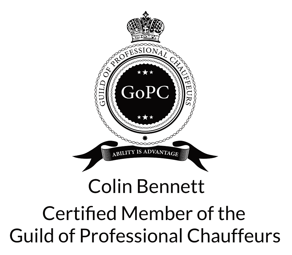 Colin Bennetts accreditation to The Guild of Professional Chauffeurs.