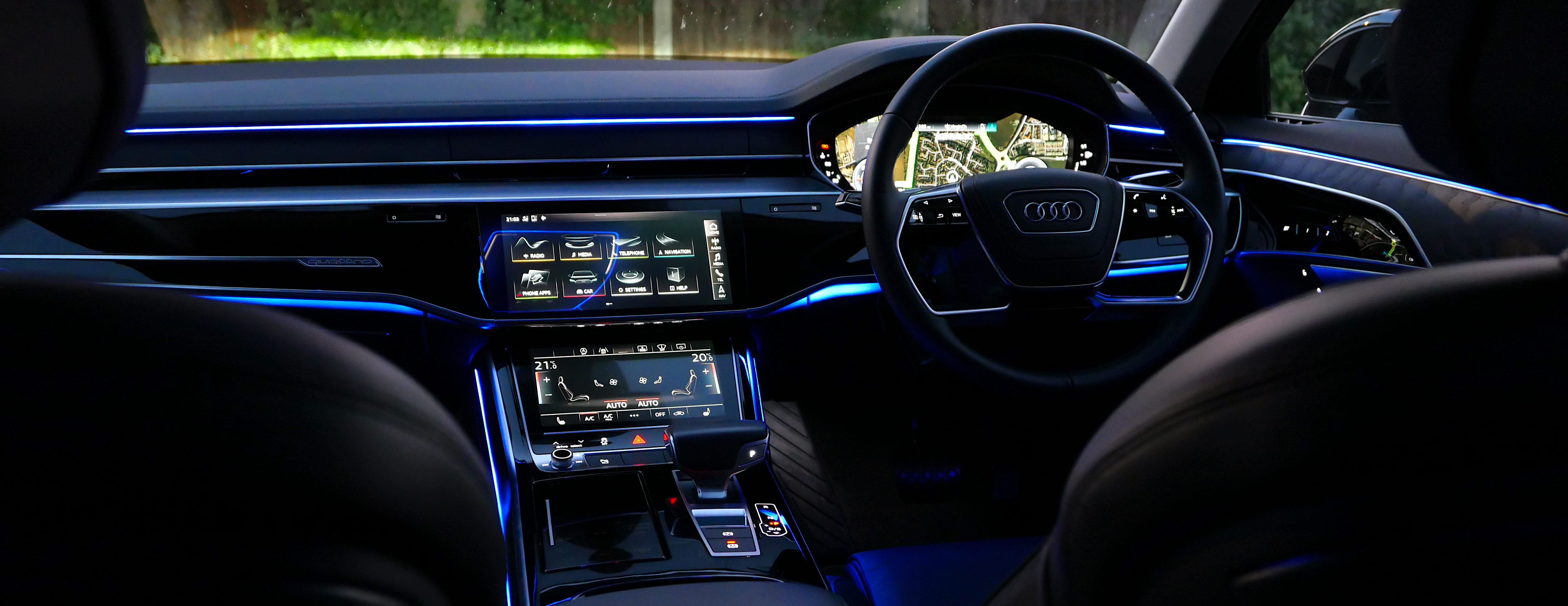 The dash of our Audi A8L