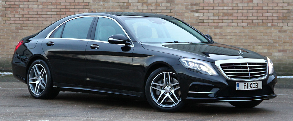 The exterior of our new AMG Line S Class Mercedes