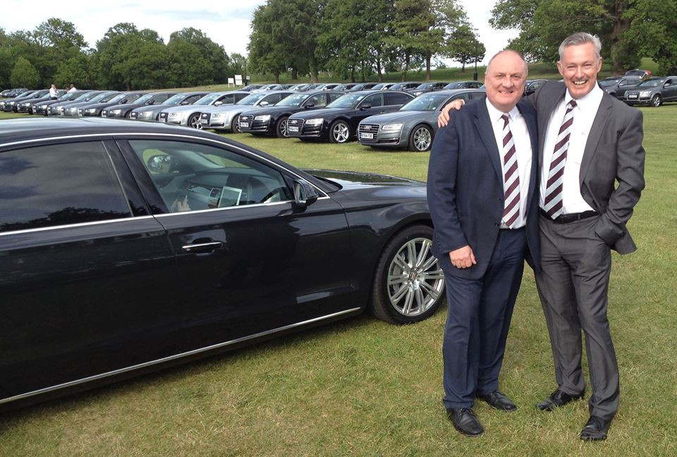 Kev and I at an Audi Polo event at Coworth Park