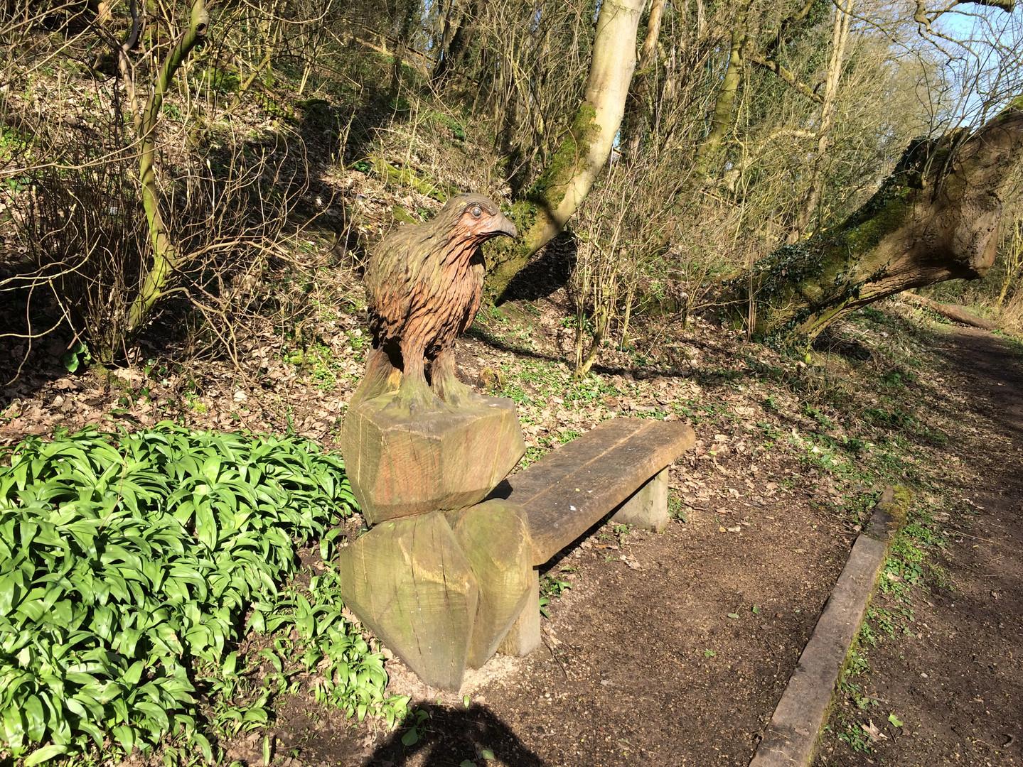 Dane Meadow eagle bench.JPG
