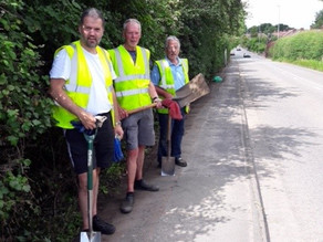 Pathway Cleared by Village Volunteers