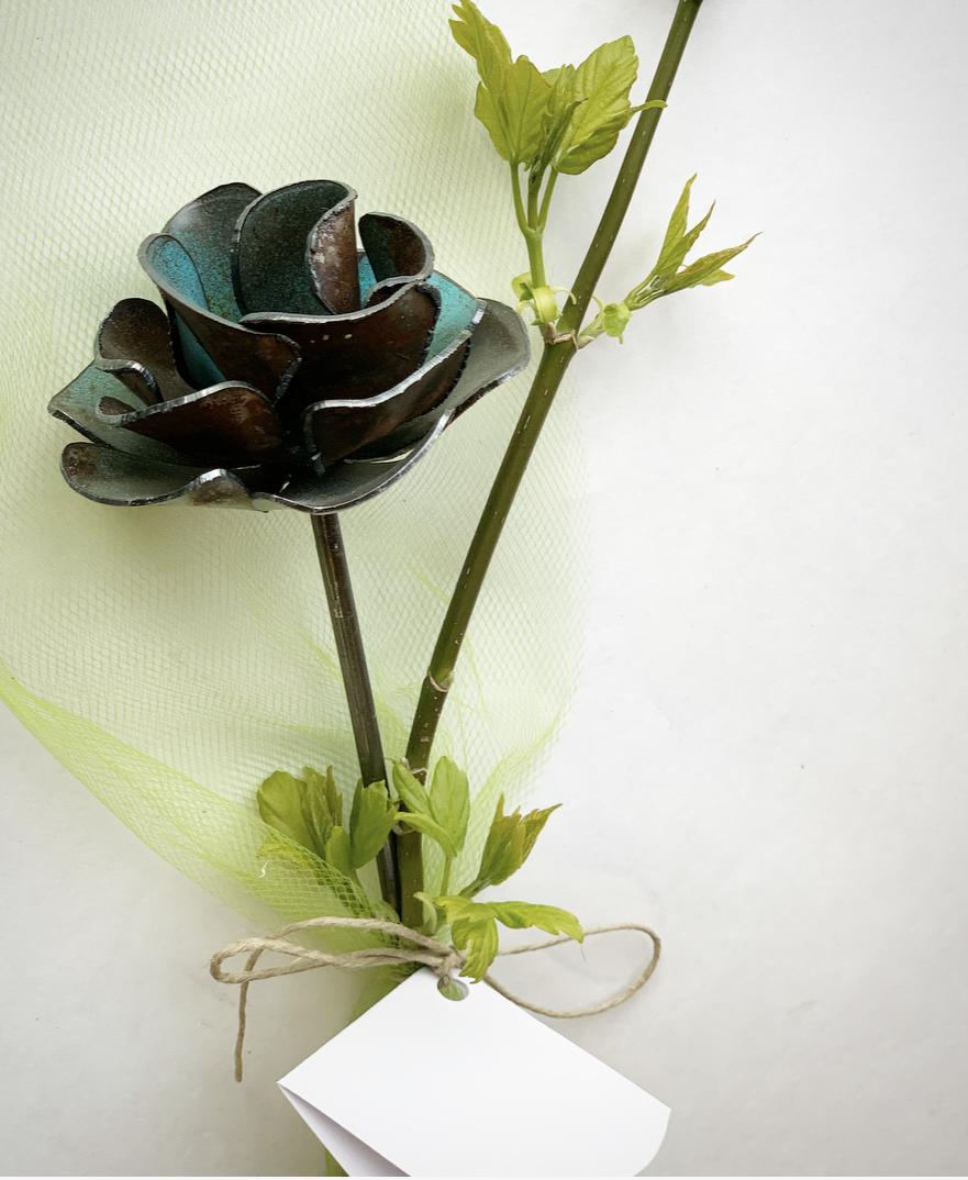 Blue Rustic Rose
