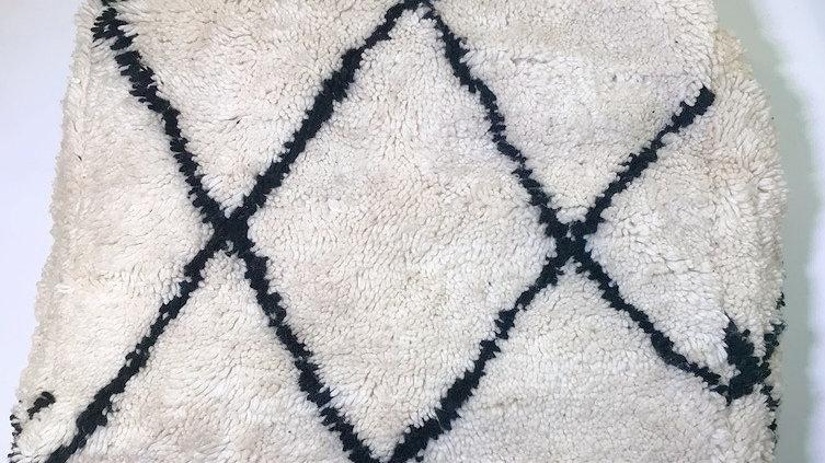 Moroccan Rug Floor Pouf