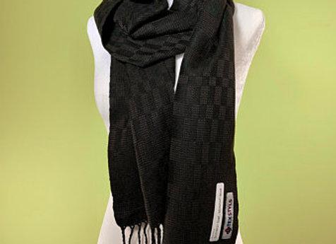 SC2164.DUSK   Scarf    Handmade Black & Grey Bamboo /Tencel
