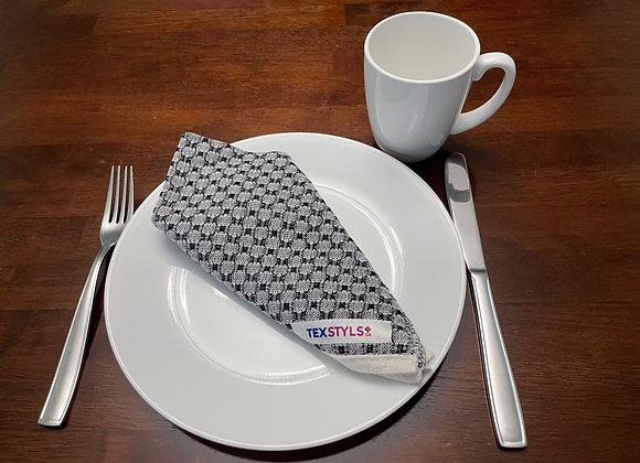 TN1053.03   Table Napkins x 4   Black & Grey   Dining Table, Home Decor