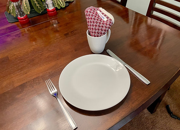 TN1053.04   Table Napkins   Black & Red   Dining Table, Home Decor